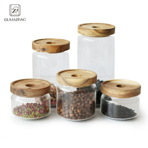 Hand Made Glass Canister for Food Storage Jar