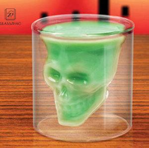 Crystal Skull Head Vodka Whiskey Shot Glass Cup Bar Drink Ware Clean Mugs