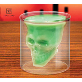 Crystal Skull Head Vodka Whiskey Shot Glass Cup Bar Drink Ware Clean Mugs