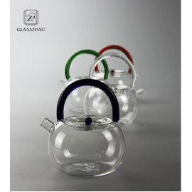 GZ Heat Resistant Mouthblown Boiling Glass Teapot