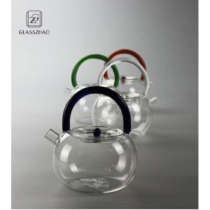 GZ Heat Resistant Mouthblown Boiling Glass Teapot