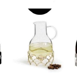 Wine Pot Warmer Carafe in Black, White or Gold