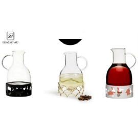Wine Pot Warmer Carafe in Black, White or Gold