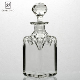 Glassware Transparent Square  glass perfume bottle