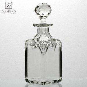 Glassware Transparent Square  glass perfume bottle