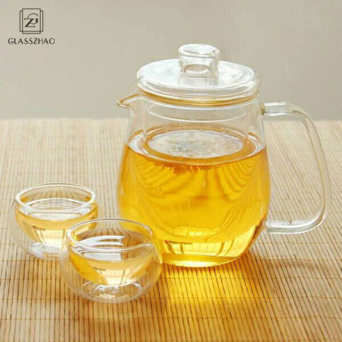 GZ Hand Made Glass Large Teapot with Lid