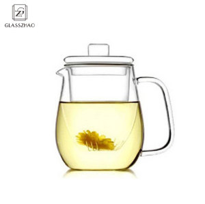 GZ GHand Made Glass Tea Cup with filter