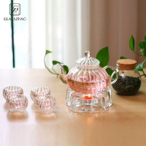 Glass Tea Set with Clear Borosilicate Glass