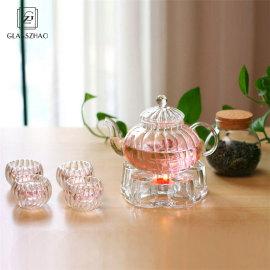 Glass Tea Set with Clear Borosilicate Glass