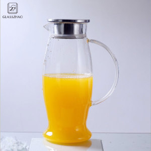 Glass Cold Brew Water/Juice  Jug/Pitcher  with Stainless Steel Lid