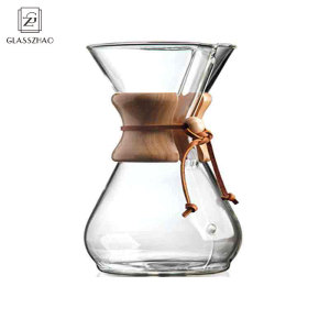 Hand Made Glass Heat Resistant Coffee Pot