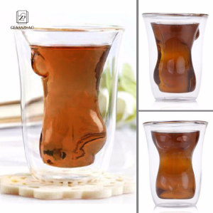 Sexy Lady Men Durable Double Wall Whiskey Glasses Beer Cup