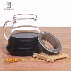 GZ Brand Hand Made Glass Cofffee Maker with Handle