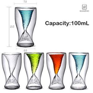 Crystal Mermaid Cup Glass Mug For Party Home Vodka Shot Wine Beach