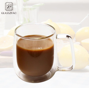 Hand Made Double Wall Glass Coffee Cup