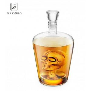 GZ Hand Made Borosilicate /Crystal Glass Skull Head Decanters For Vodka