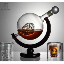 Glass World Novelty Globe Decanter Vodka Whisky 700ml Wine Spirit