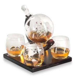 Globe Shape Borosilicate Glass  Wine Decanter