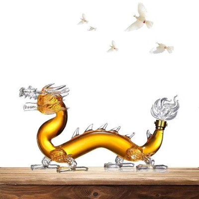 Dragon Shape Borosilicate Glass Wine Decanter