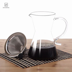 Glassware Tartisan-crafted hicken glass Durable wave texture glass coffee Pot