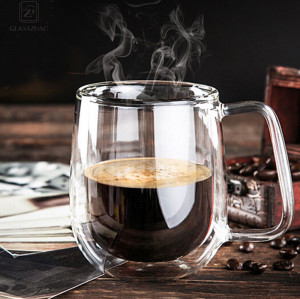 Double Wall Glass Coffee Handmade Cup For Tea Milk Beer Cold Hot Drink