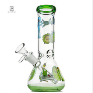 Rick and Morty Glass Bong Collectible Tobacco Water Pipe Vase Bubbler Hookah