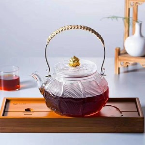 Delicate style glass tea pot