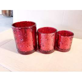 Electroplating Glass Candle Holder