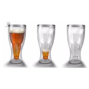 Inverted Beer Mug Upside Down Double Wall Drinking Bottle