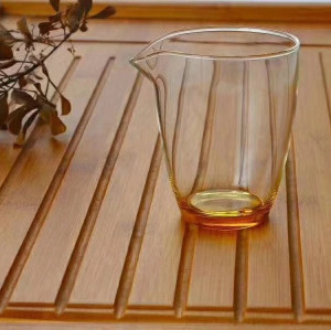 Hand Made Heat Resistant Glass Cha Xi Water Bowl for Gongfu Tea Cups