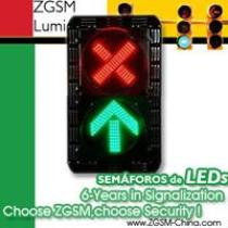 LED Traffic Lights Heads 200mm 8inch Red Cross Plus Green Arrow