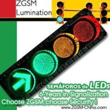 Semaforo LED Traffic Light Red Yellow Green Round Plus Green Arrow