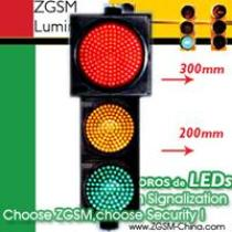 LED Traffic Lights 300mm Red Plus 200mm Green Yellow