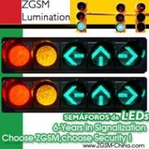 LED Traffic Light Signal Red Yellow Round Plus 3 Arrow