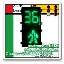 LED Traffic Lights with Countdown 2-Digit Timer