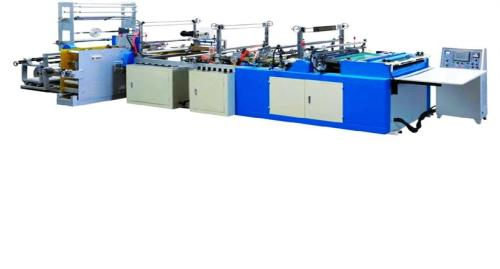 Fully-Automatic High-Speed Rope-Threading, Patching Bag Making Machine