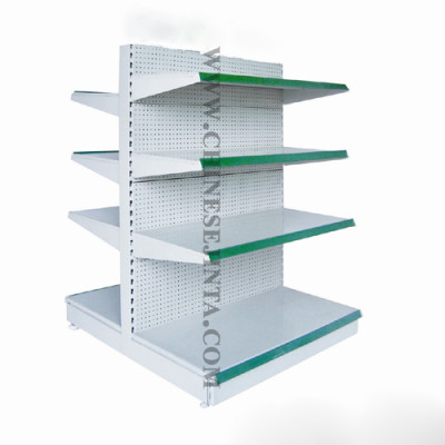 Punched board shelves