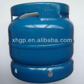 6kg glp cilindro de gas con la válvula