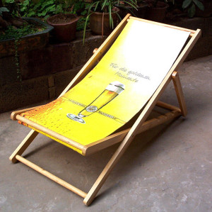 wooden beach chair