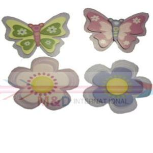 butterfly and flower set
