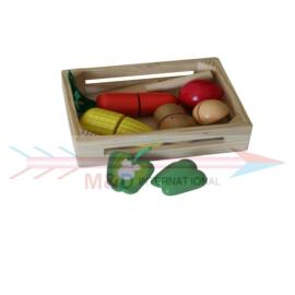 veg with wooden box
