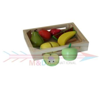 fruits with wooden box