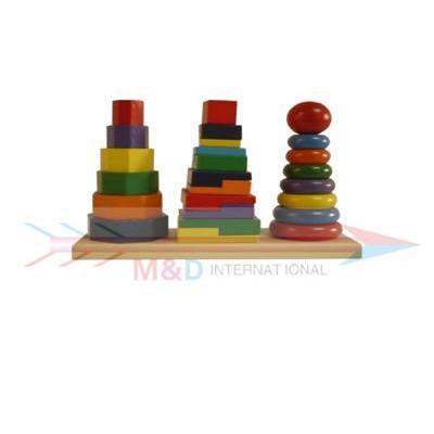 wooden stacker set