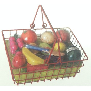 Fruits with iron basket
