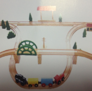 60PCS TRAIN SET