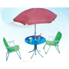 BEACH TABLE AND CHAIR SET