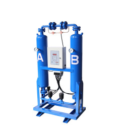 CE ASME Coded Heatess compressed air dryer with PLC controller