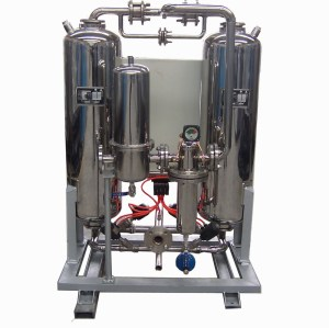 Stainless steel heatless desiccant air dryer for speical gas ,medical and food line