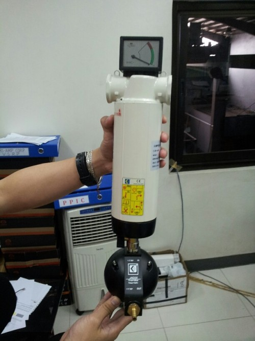 1micron compressed air filter With Pressure Gauge Type