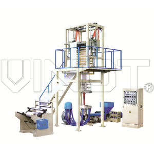 SJ-55 Two color HDPE LDPE plastic film blowing machinery,printing machine,film extruder
